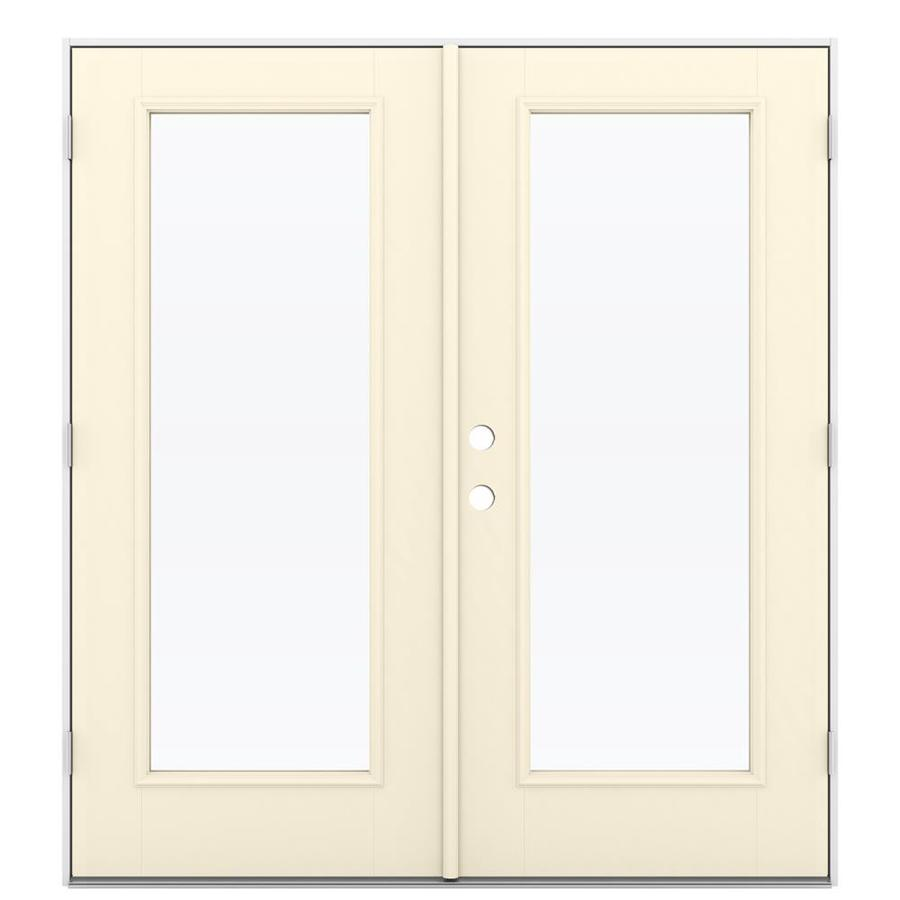 ReliaBilt 71.5-in 1-Lite Glass Bisque Fiberglass French Outswing Patio Door