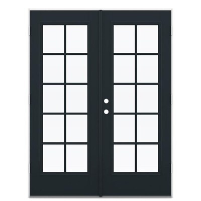 Jeld Wen Tempered External Grilles Eclipse Fiberglass Left Hand Outswing French Patio Door Common 60 In X 80 In Actual 59 5 In X 78 6875 In At Lowes Com It makes a statement and sets the tone for the rest of outswing (o/s): lowe s