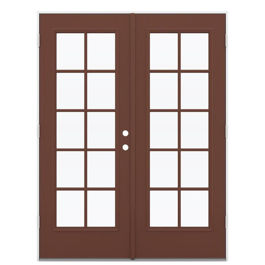 Shop reliabilt 59 5 in 10 lite glass foxtail fiberglass for Glass for patio doors