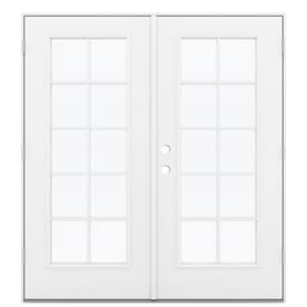 reliabilt 715in 10lite glass fiberglass french outswing patio door