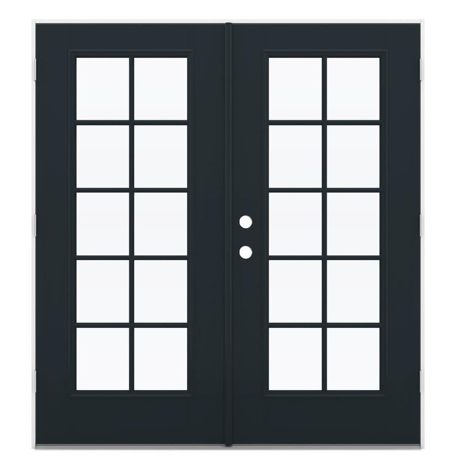 ReliaBilt 71.5-in 10-Lite Glass Eclipse Fiberglass French Outswing Patio Door