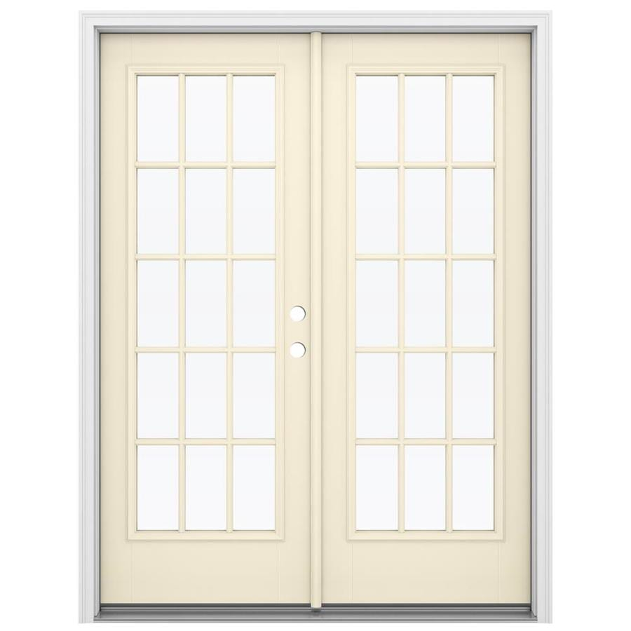 Shop reliabilt 59 5 in x 79 5 in simulated divided light for Fiberglass patio doors