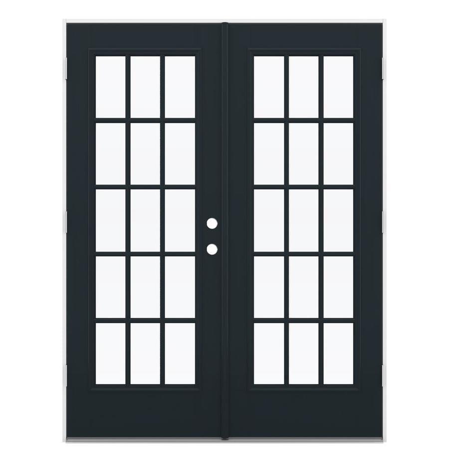 ReliaBilt 59.5-in x 78.625-in Right-Hand Outswing Fiberglass French Patio Door