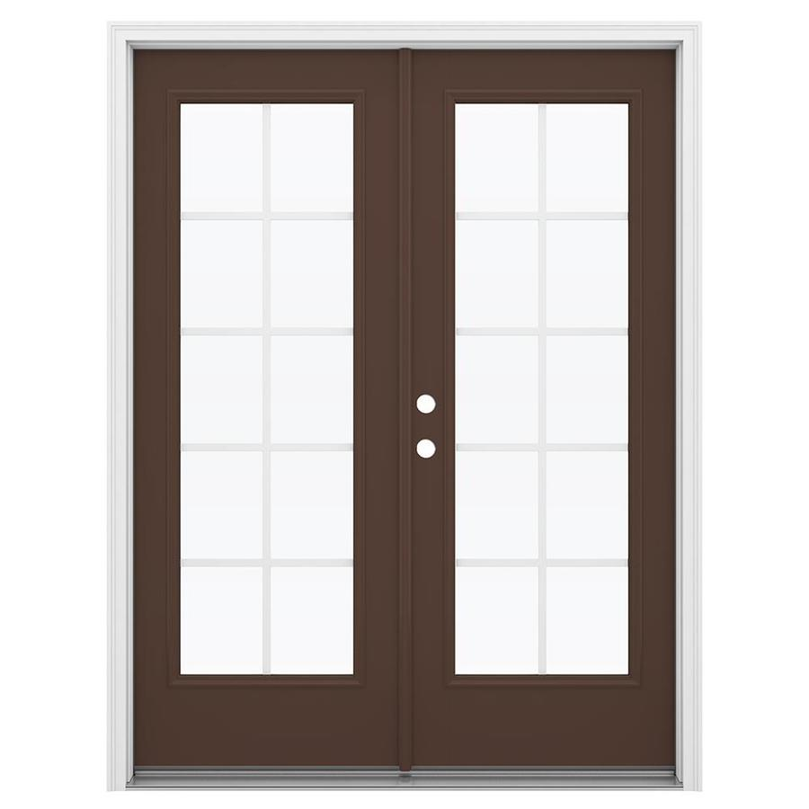 Shop reliabilt 59 5 in grilles between the glass chococate for Fiberglass patio doors