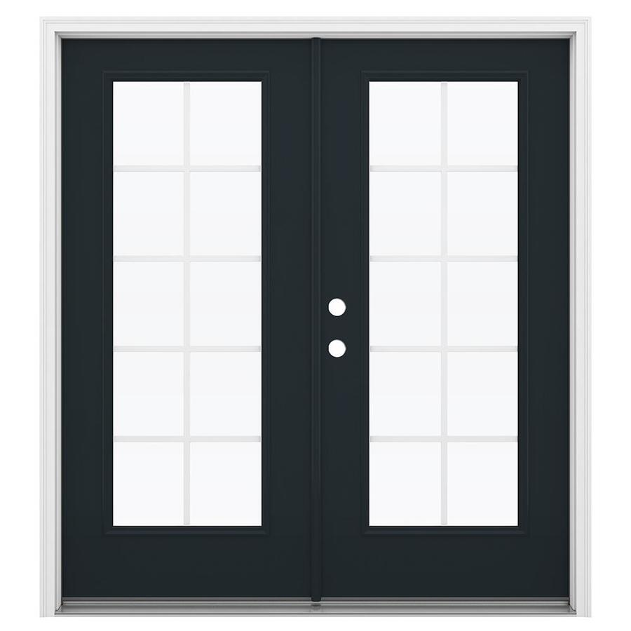 ReliaBilt 71.5-in Grilles Between the Glass Eclipse Fiberglass French Inswing Patio Door