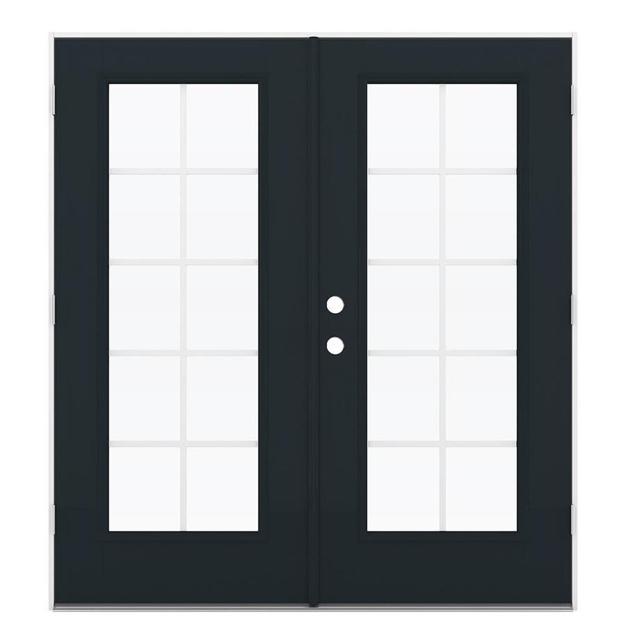ReliaBilt 71.5-in Grilles Between the Glass Eclipse Fiberglass French Outswing Patio Door