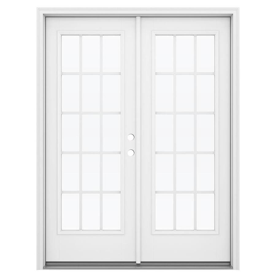 Shop reliabilt 59 5 in x 79 5 in grilles between the glass for Fiberglass patio doors