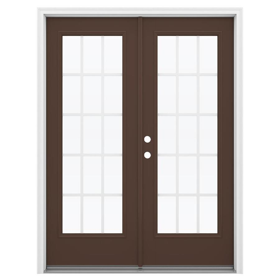 Reliabilt French Patio Doors: Shop ReliaBilt 59.5-in X 79.5-in Grilles Between The Glass