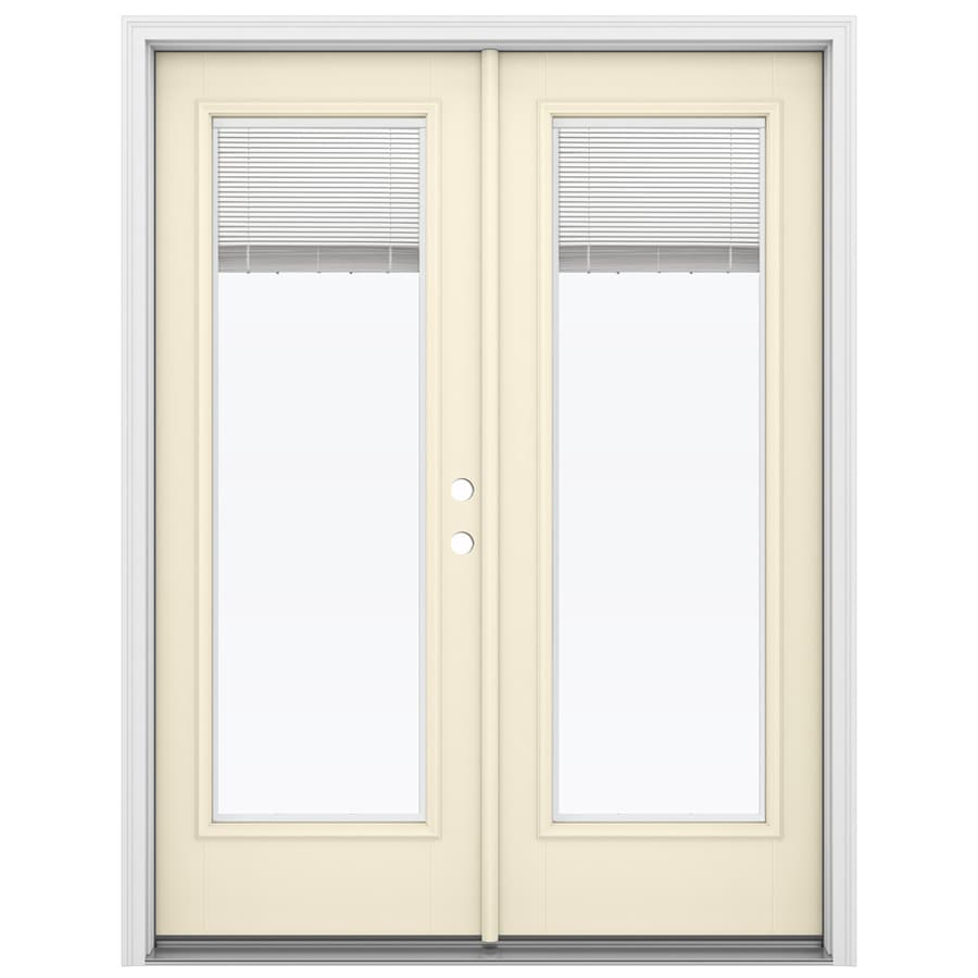 Shop reliabilt 59 5 in blinds between the glass bisque for Fiberglass french patio doors