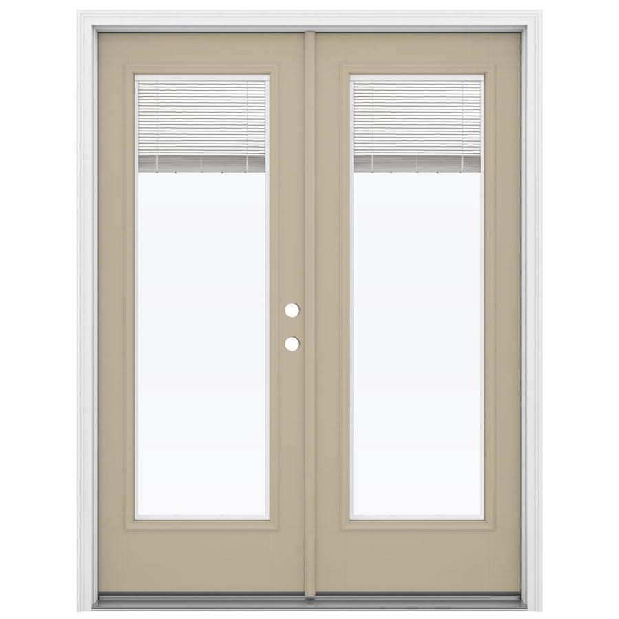 Reliabilt French Patio Doors: Shop ReliaBilt 59.5-in X 79.5-in Blinds Between The Glass