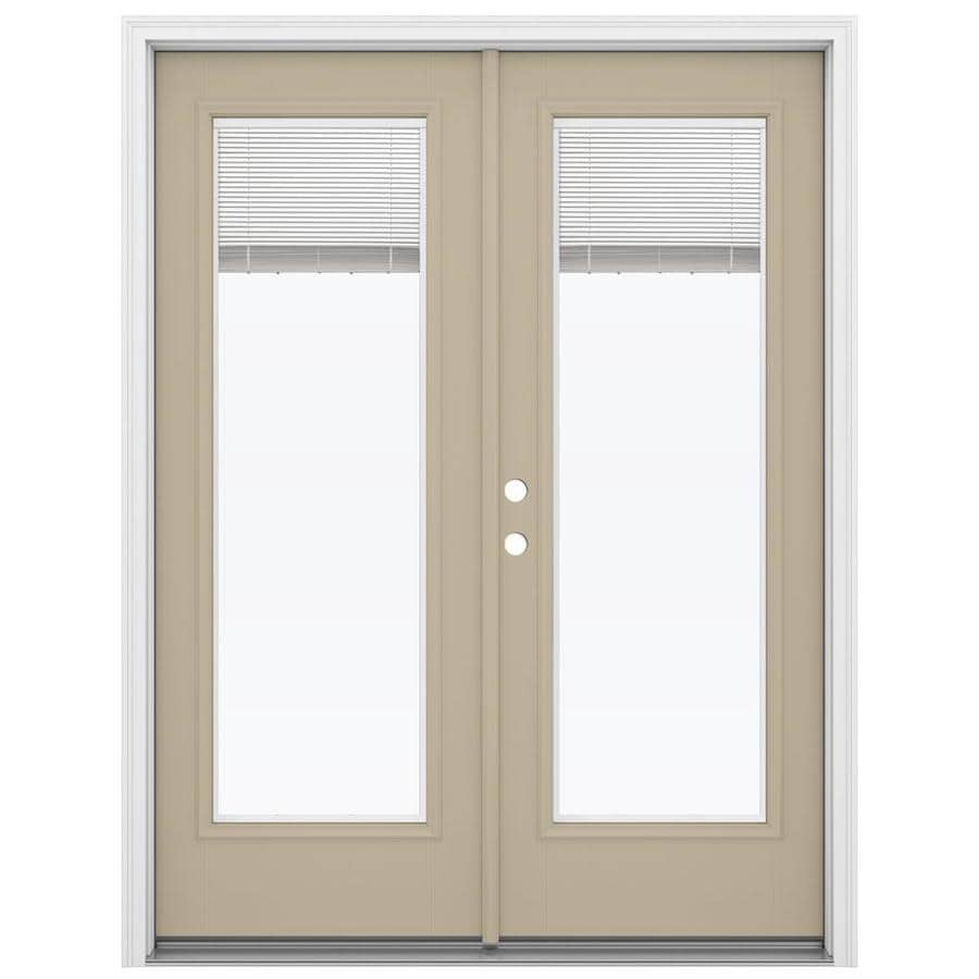 Shop reliabilt 59 5 in x 79 5 in blinds between the glass for Fiberglass patio doors
