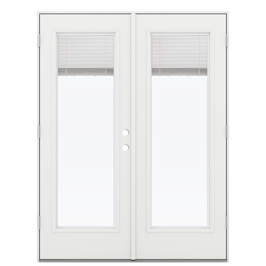 Shop reliabilt 59 5 in blinds between the glass arctic for Fiberglass patio doors