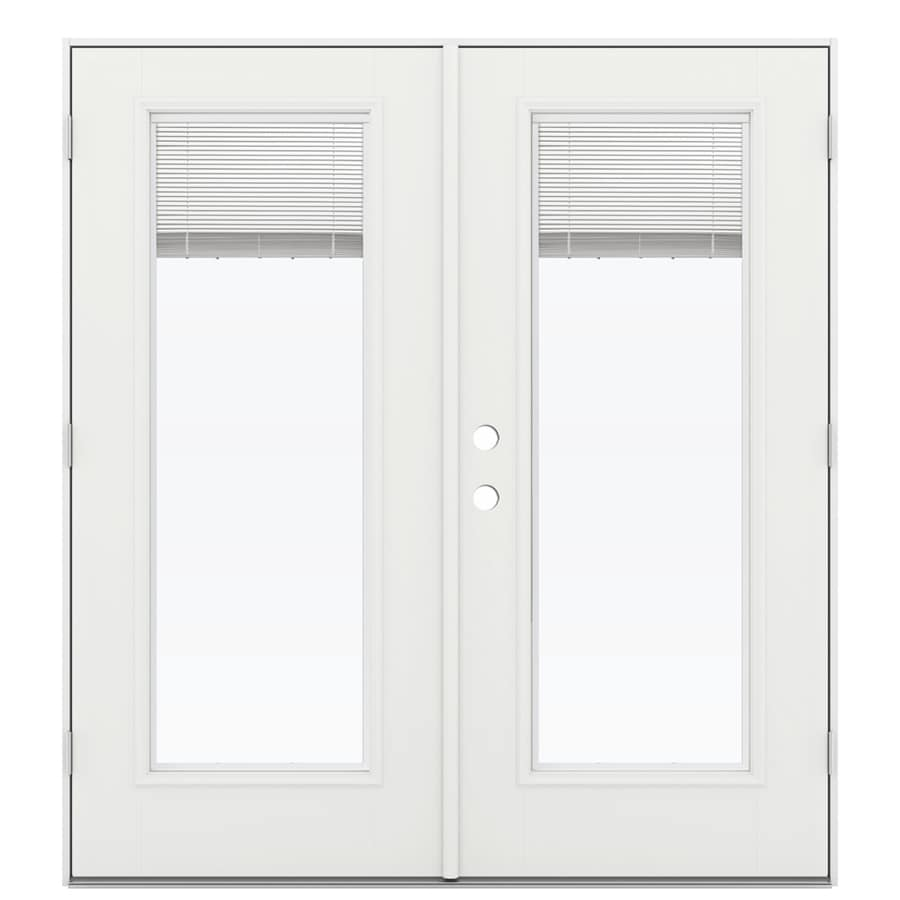 Shop reliabilt 71 5 in blinds between the glass arctic for Fiberglass patio doors