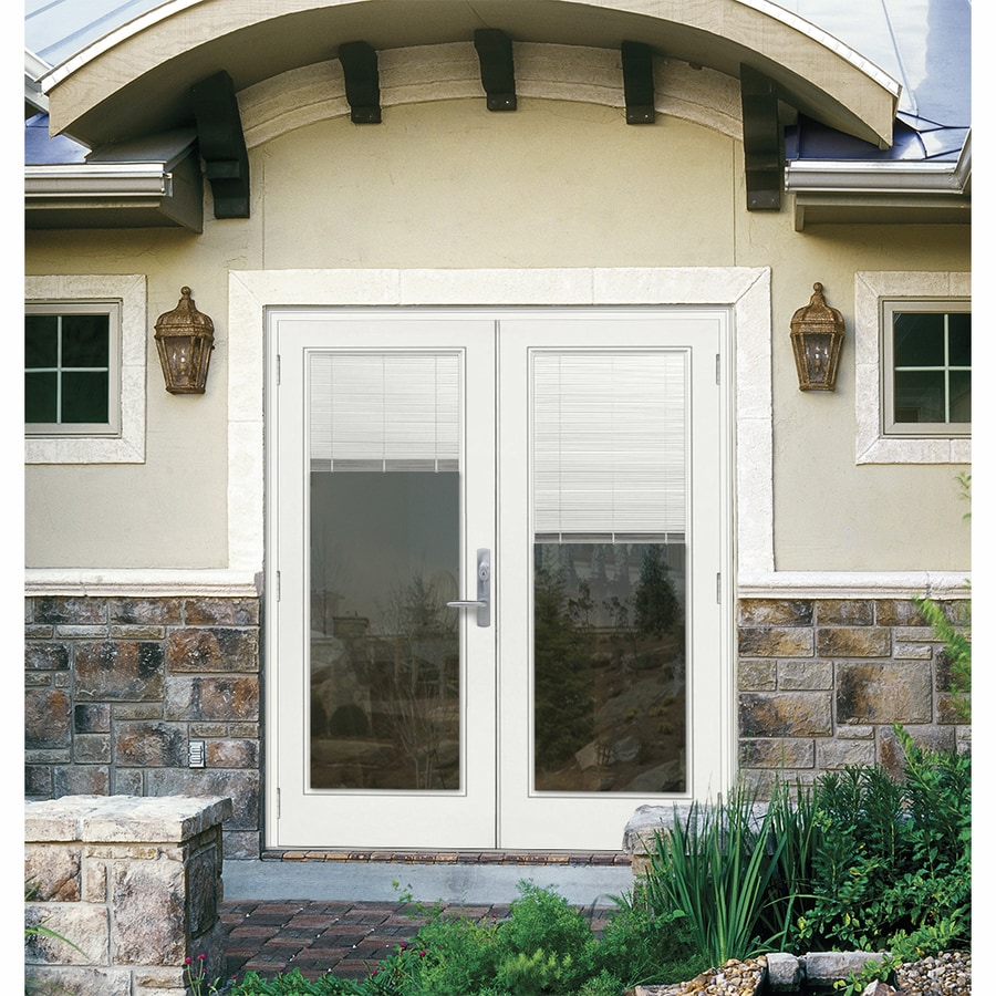 patio doors with blinds inside reviews. reliabilt 71.5-in x 78.625-in blinds between the glass right-hand outswing patio doors with inside reviews