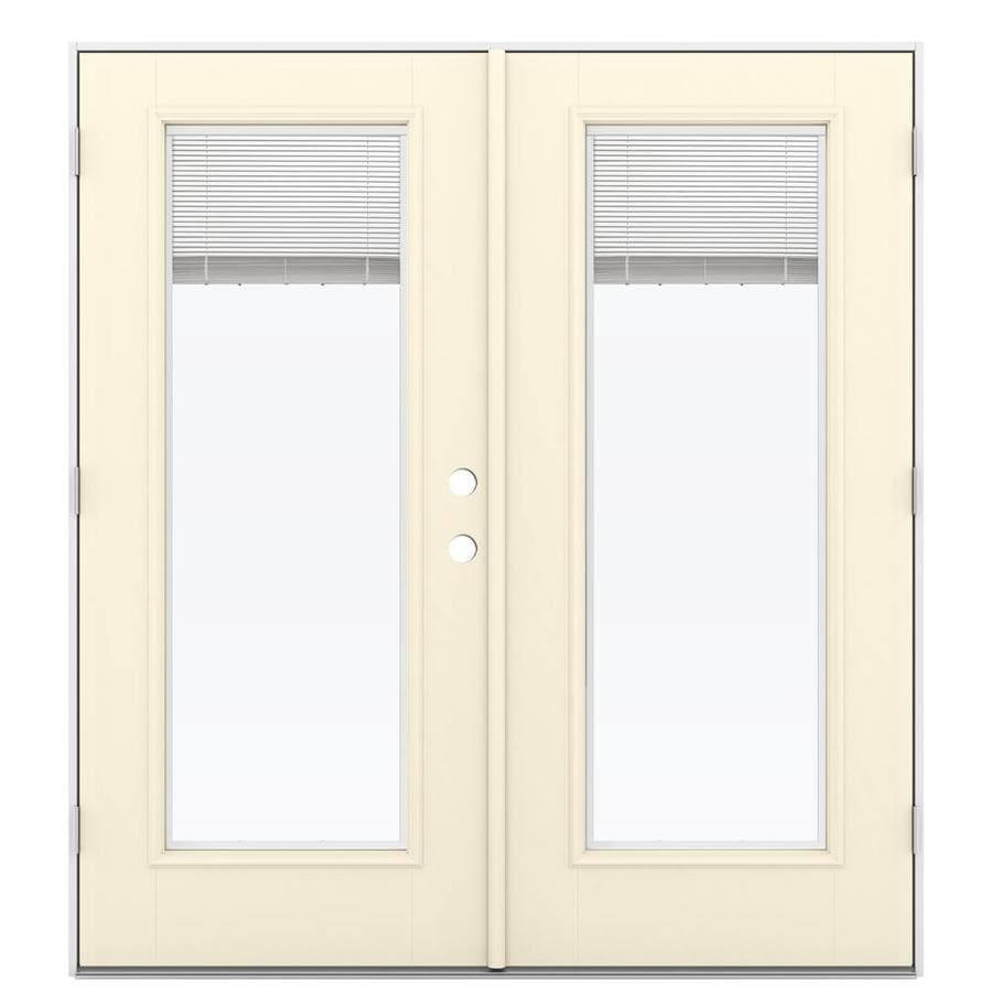 Jeld wen blinds between the glass bisque fiberglass right - Double outswing exterior french doors ...