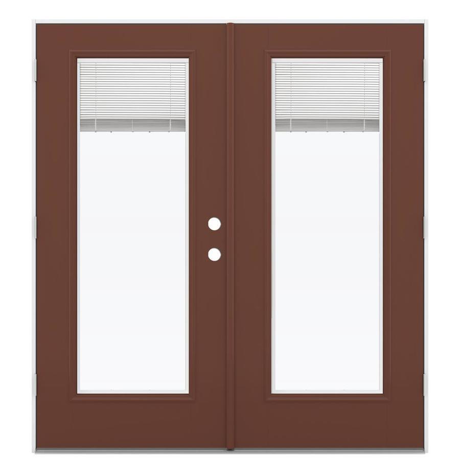 ReliaBilt 71.5-in Blinds Between the Glass Foxtail Fiberglass French Outswing Patio Door