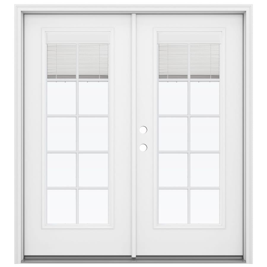 Shop reliabilt 71 5 in x 79 5 in blinds between the glass for Fiberglass patio doors