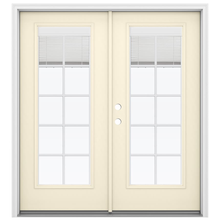 Shop reliabilt 71 5 in blinds between the glass bisque for Fiberglass french patio doors
