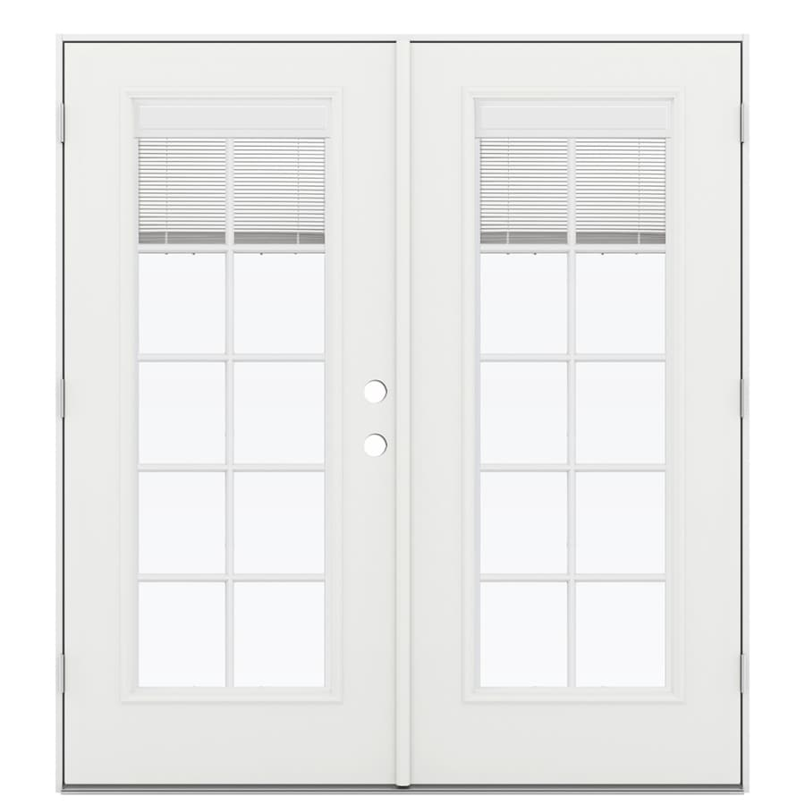 Blinds For French Doors Lowes shop reliabilt 71.5-in blinds between the glass arctic white