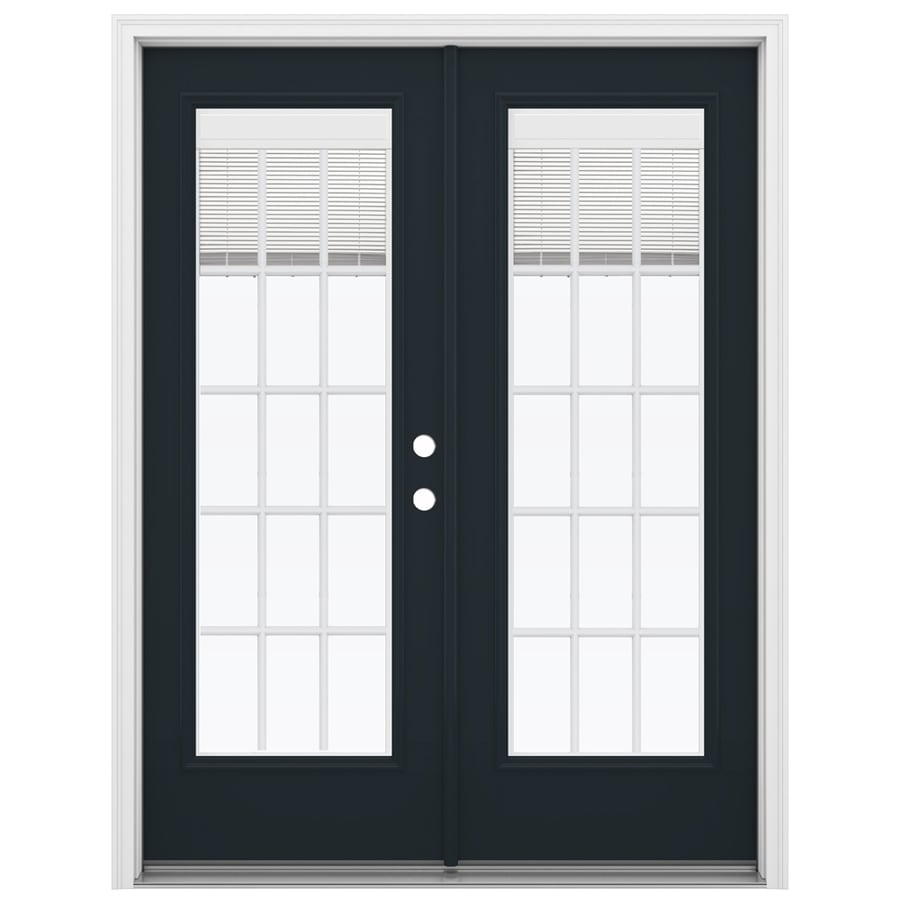 ReliaBilt 59.5-in Blinds Between the Glass Eclipse Fiberglass French Inswing Patio Door