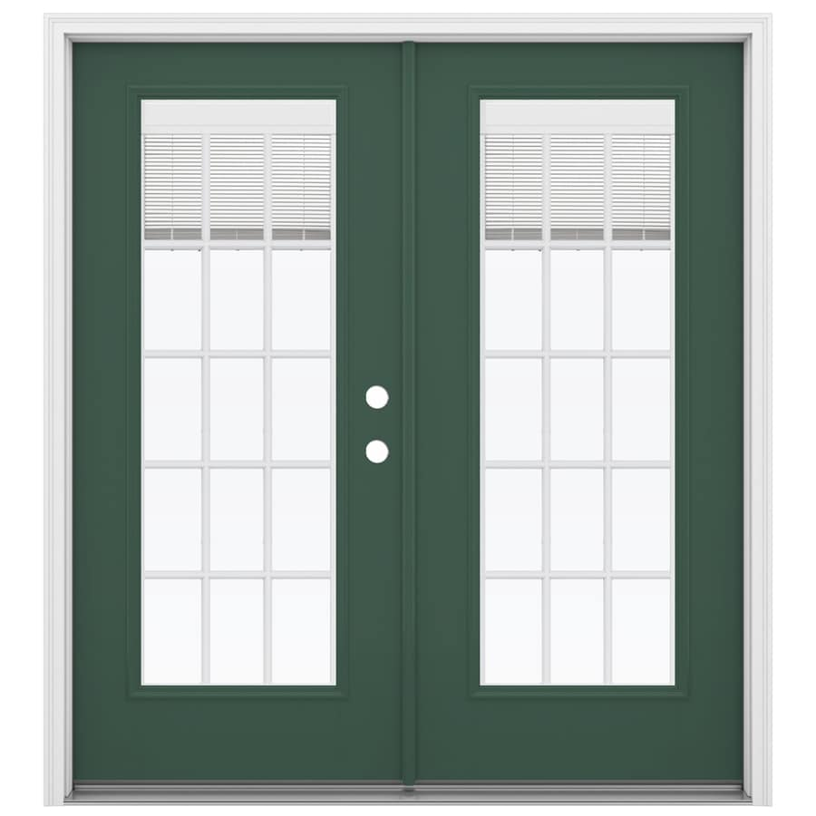 Shop reliabilt 71 5 in blinds between the glass evergreen for Fiberglass patio doors