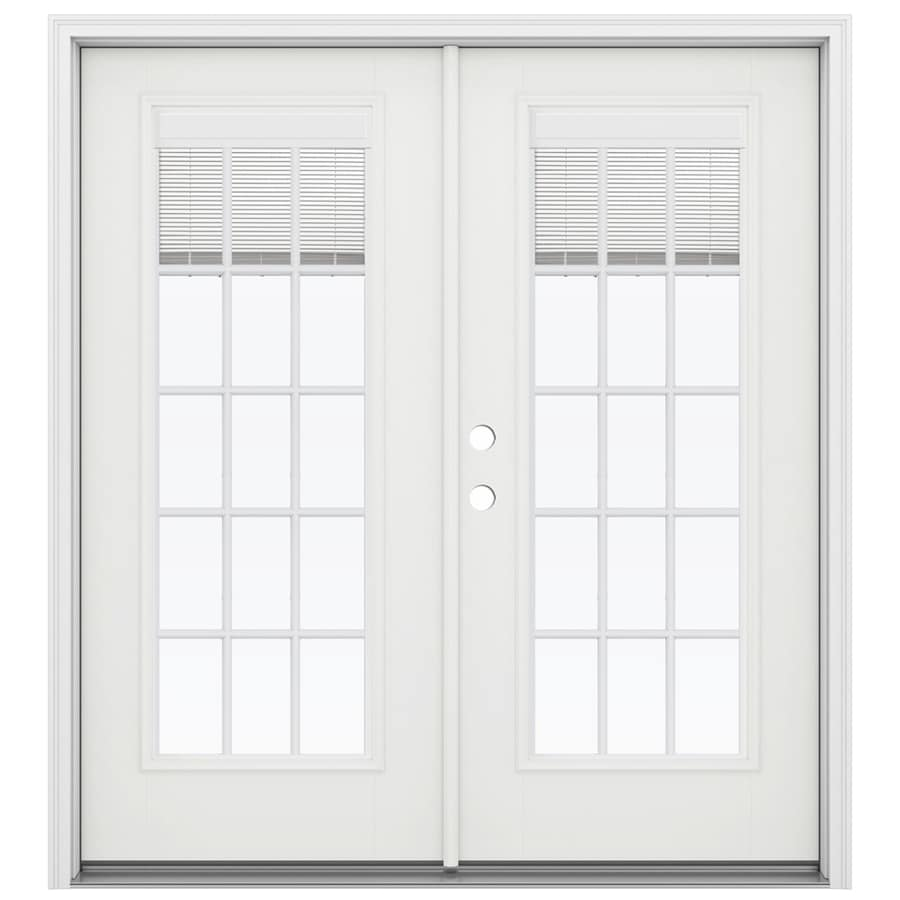 Shop reliabilt 71 5 in x 79 5 in blinds between the glass for Lowes patio doors with built in blinds