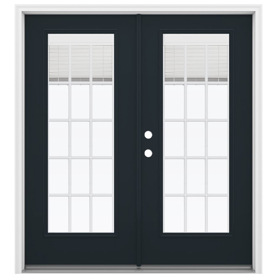 ReliaBilt 71.5-in Blinds Between the Glass Eclipse Fiberglass French Inswing Patio Door