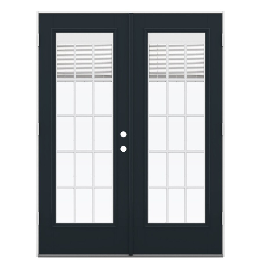 ReliaBilt 59.5-in Blinds Between the Glass Eclipse Fiberglass French Outswing Patio Door