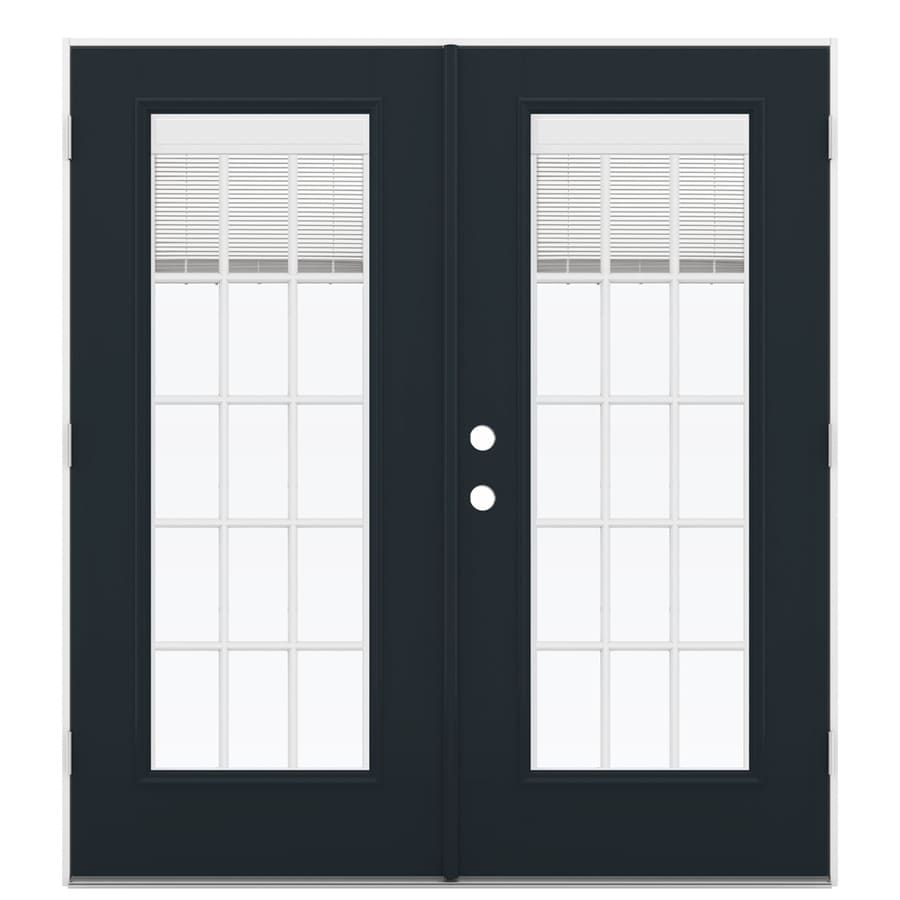 ReliaBilt 71.5-in Blinds Between the Glass Eclipse Fiberglass French Outswing Patio Door