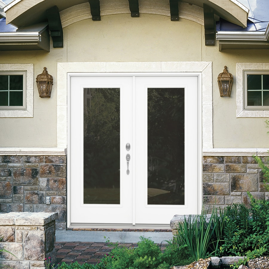 French Exterior Doors Steel: JELD-WEN French Clear Glass Primed Steel Left-Hand Inswing