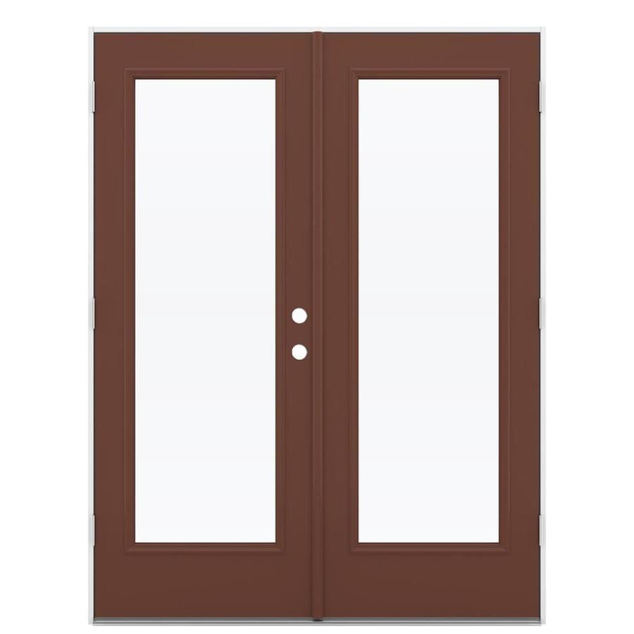 Shop Reliabilt 59 5 In X 79 5 In Right Hand Outswing Steel French Patio Door At