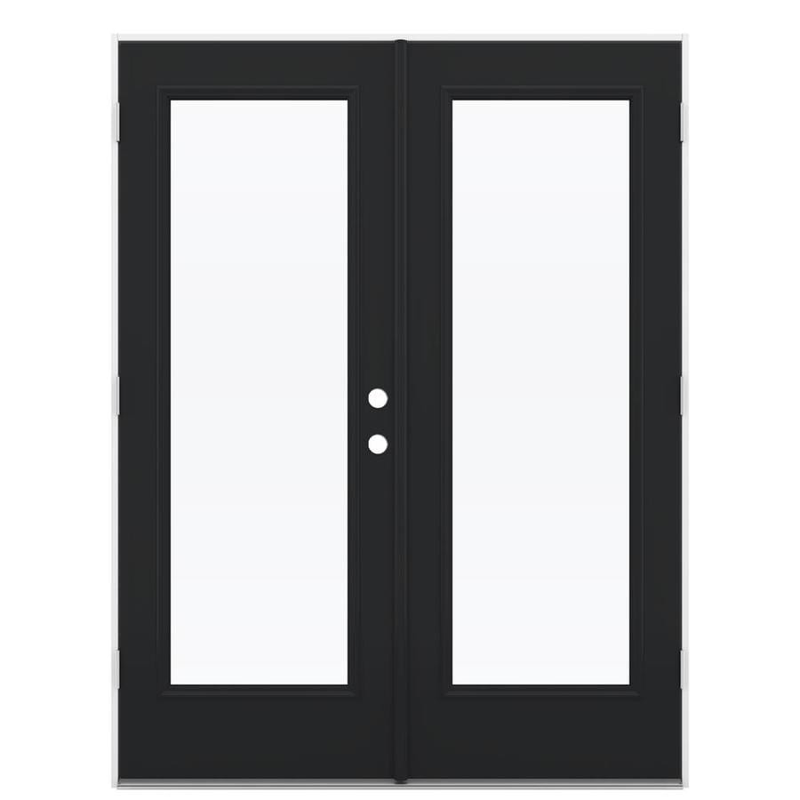 ReliaBilt 59.5-in x 79.5-in Right-Hand Outswing Steel French Patio Door