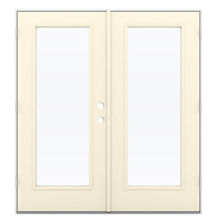 French Exterior Doors Steel: JELD-WEN French Clear Glass Bisque Steel Right-Hand