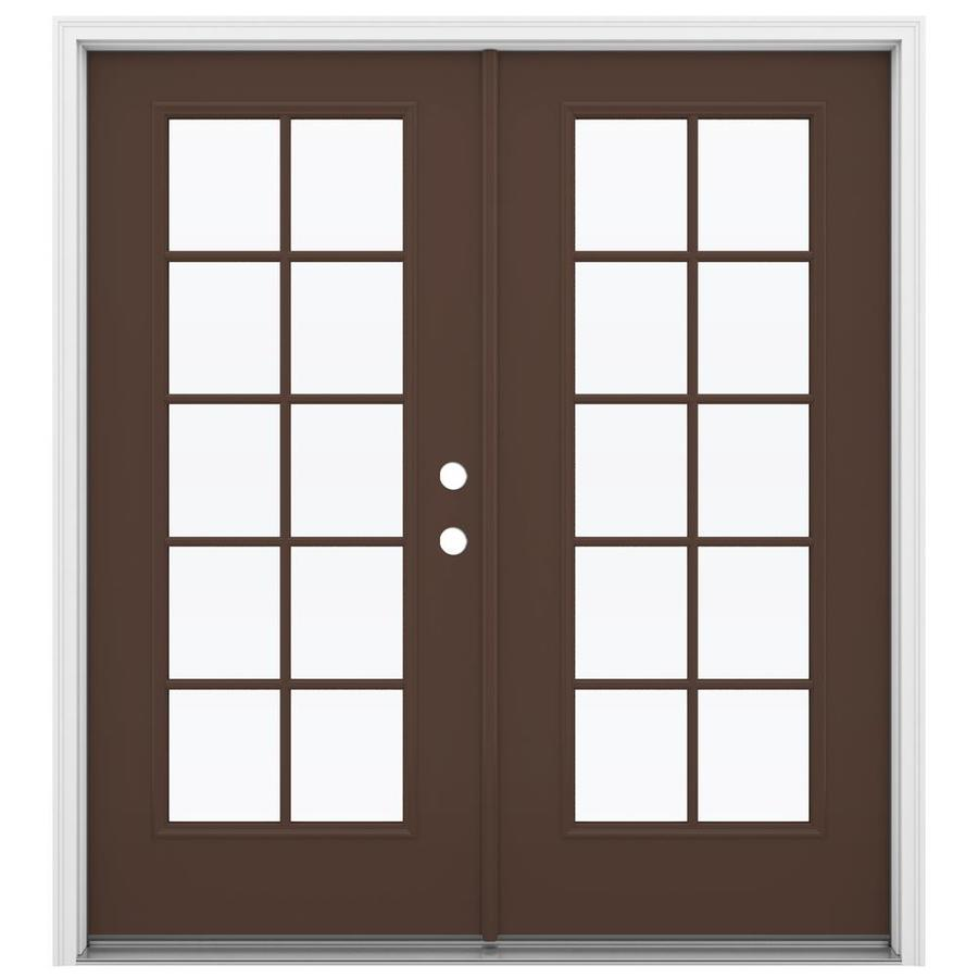 Shop Jeld Wen 71 5 In X 79 5 In Left Hand Inswing Steel French Patio Door At