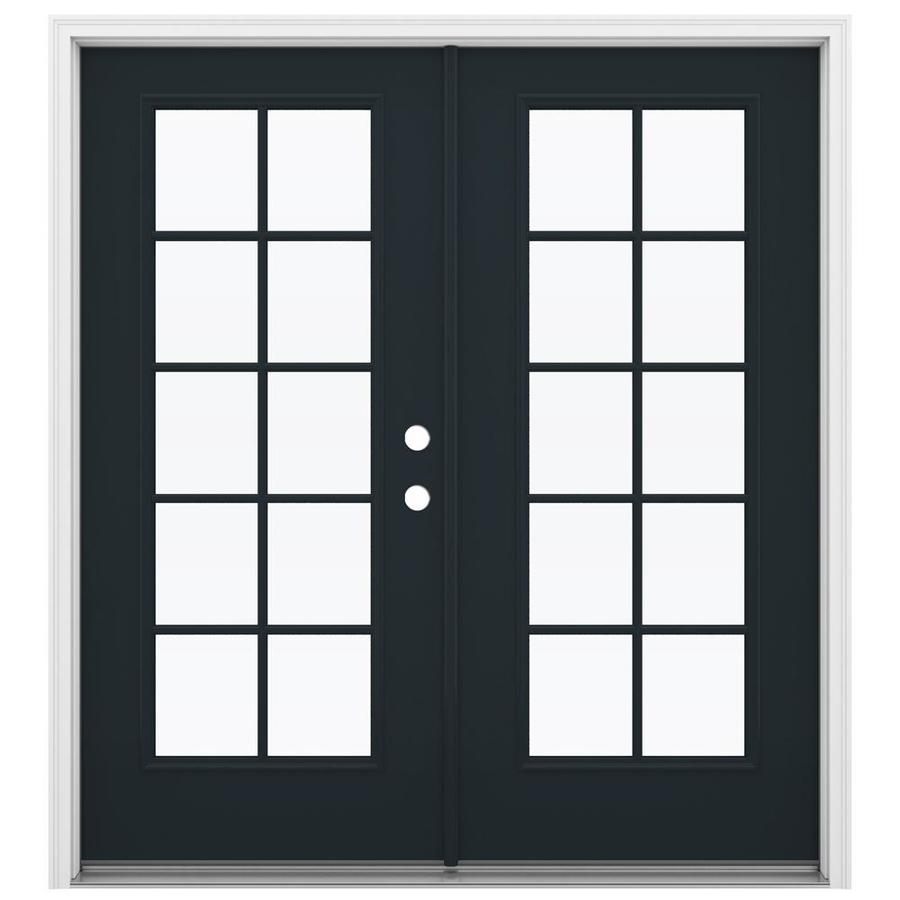 ReliaBilt 71.5-in 10-Lite Glass Eclipse Steel French Inswing Patio Door