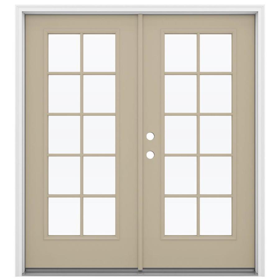 ReliaBilt 71.5-in x 79.5-in Right-Hand Inswing Steel French Patio Door