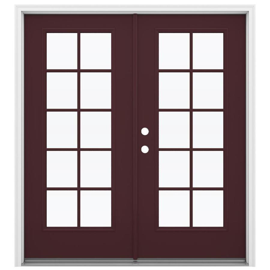 in 10 lite glass currant steel french inswing patio door at