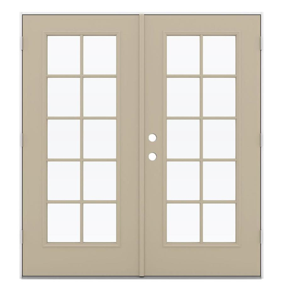 ReliaBilt 71.5-in x 79.5-in Left-Hand Outswing Steel French Patio Door