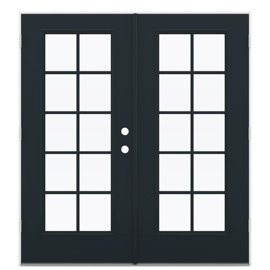 ReliaBilt 71.5-in 10-Lite Glass Eclipse Steel French Outswing Patio Door