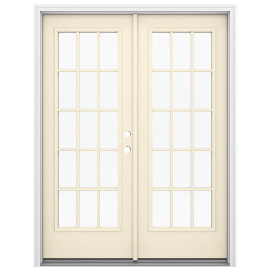 Reliabilt French Patio Doors: Shop ReliaBilt 59.5-in 15-Lite Glass Bisque Steel French