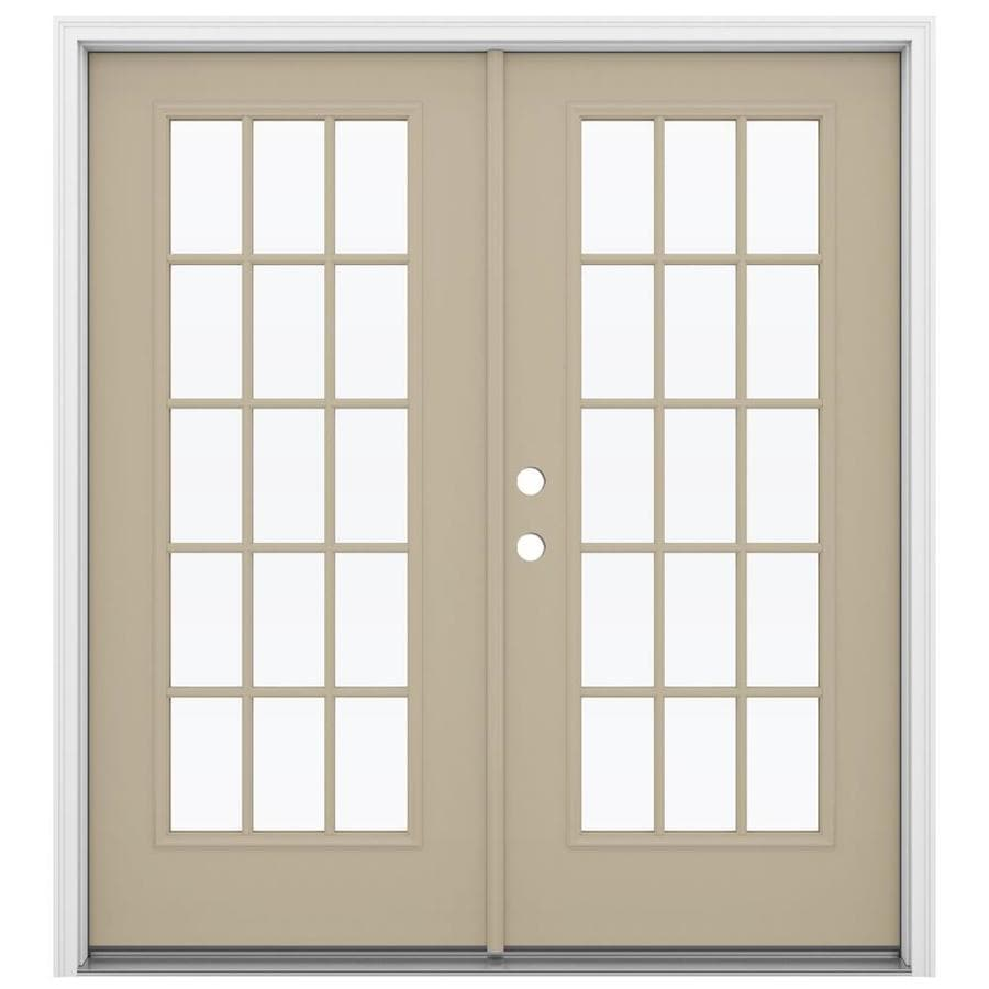 ReliaBilt 71.5-in x 79.5-in Right-Hand Inswing Steel French Patio Door