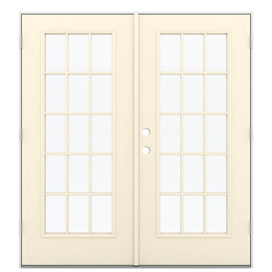 Shop reliabilt 71 5 in x 79 5 in left hand outswing steel for French patio doors outswing