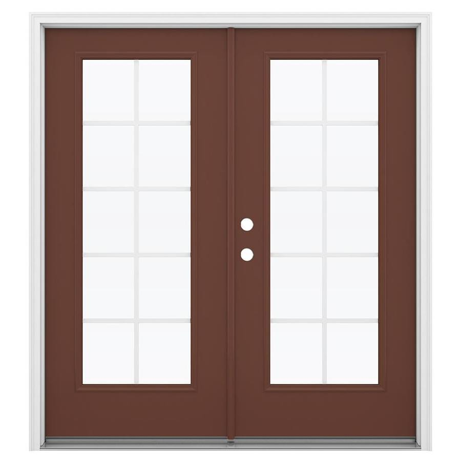 Shop jeld wen 71 5 in x 79 5 in grilles between the glass for French doors exterior inswing