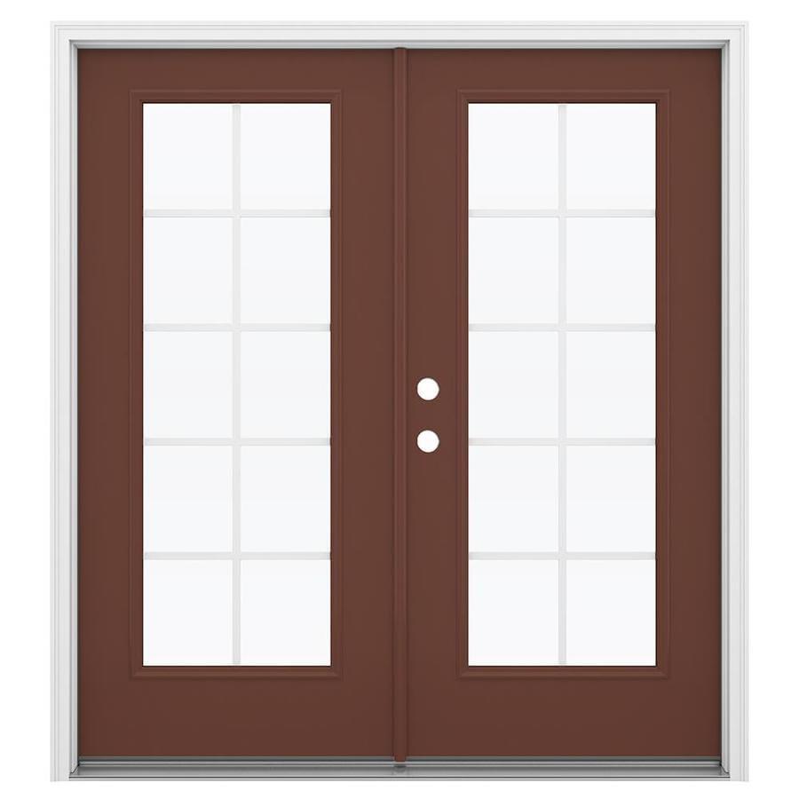 Shop jeld wen 71 5 in x 79 5 in grilles between the glass for 60 x 80 exterior french doors