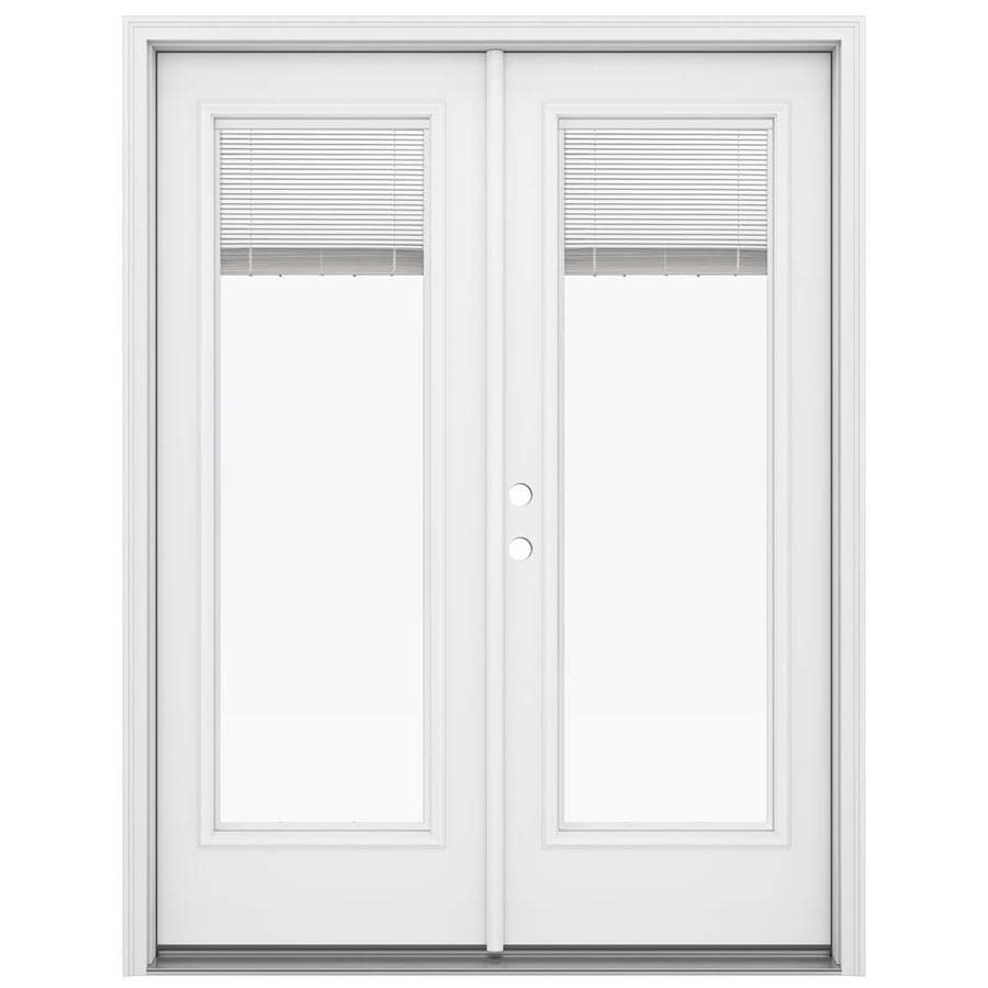 Shop ReliaBilt 59 5 In Blinds Between The Glass Primed Steel French Inswing P