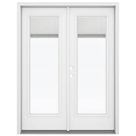 JELD WEN 59.5 In X 79.5 In Blinds Between The Glass White Steel