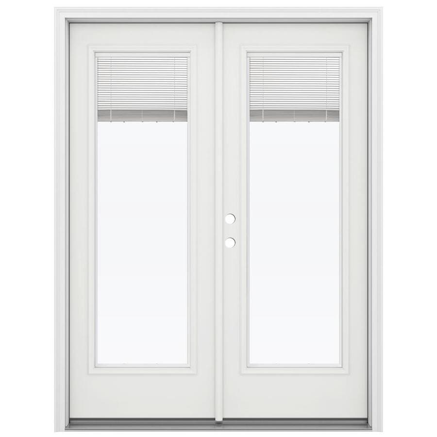 French Exterior Doors Steel: JELD-WEN Blinds Between The Glass Steel Right-Hand Inswing