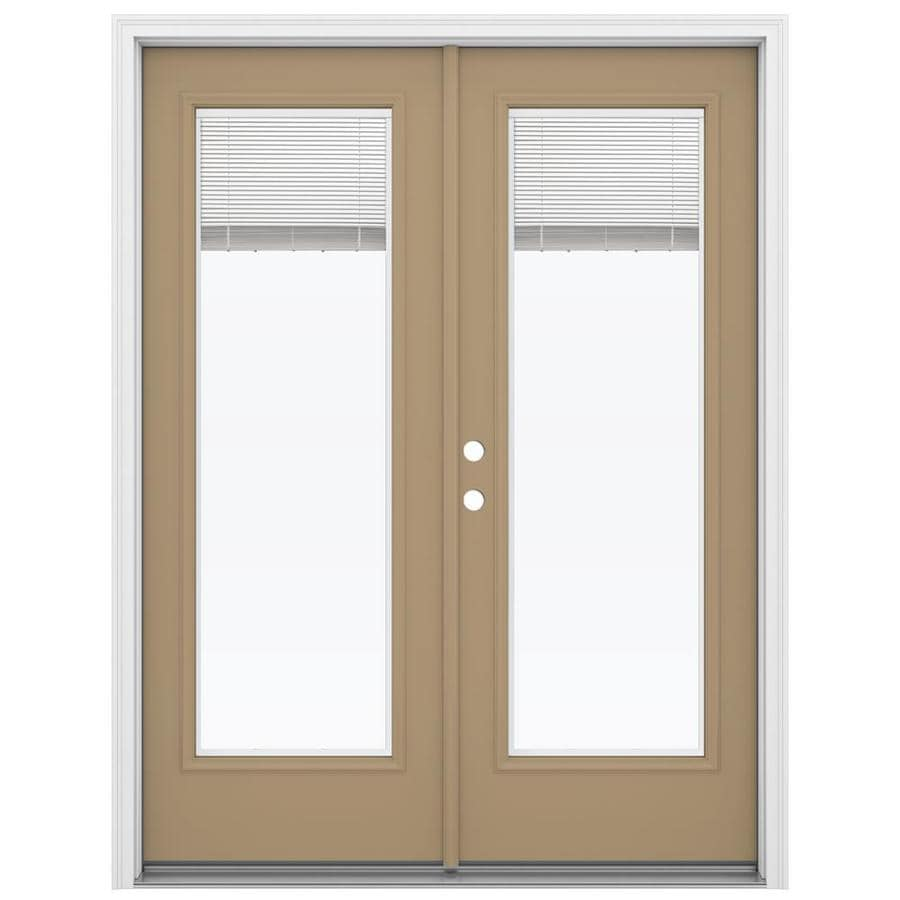 Shop reliabilt 59 5 in x 79 5 in blinds between the glass for French doors lowes