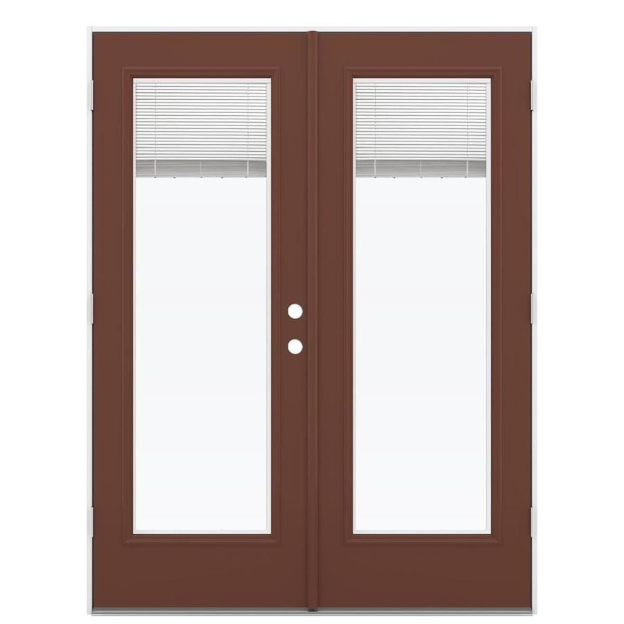 Shop reliabilt 59 5 in blinds between the glass foxtail for Outswing french doors