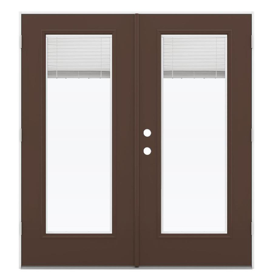 Shop ReliaBilt 71 5 In Blinds Between The Glass Chococate Steel French Outswi